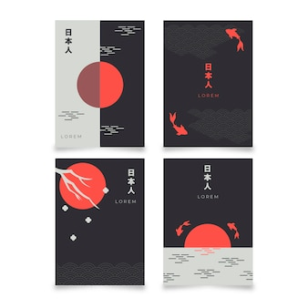 Conception de collection de couvertures japonaise minimaliste