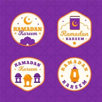 Conception de la collection d'étiquettes ramadan