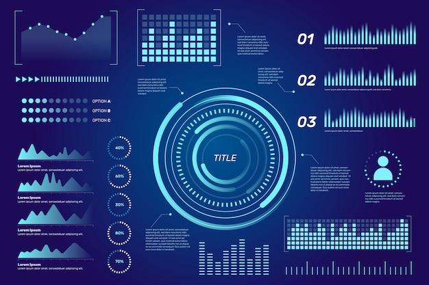 Conception de collection infographique futuriste