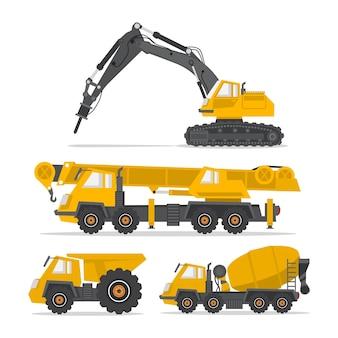 Conception de collection de machines de construction