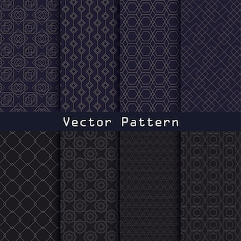 Conception de collection de modèle de luxe géométrique de vecteur