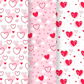 Conception de collection de motif coeur