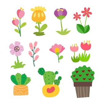 Conception de collection de vecteur de fleur