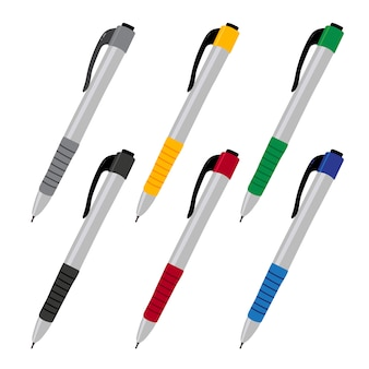 Conception de collection de vecteur de stylo