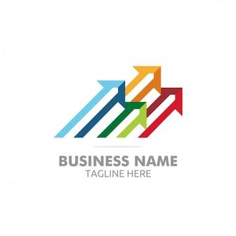 Conception coloré logo modèle