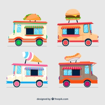 Conception colorée de camion de nourriture