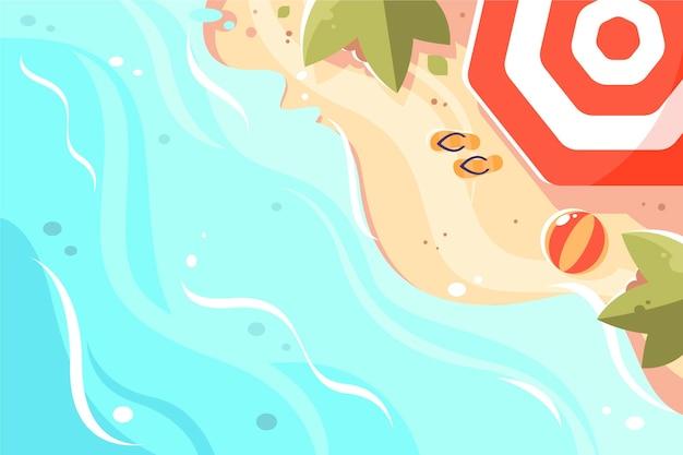 Conception colorée de fond d'été