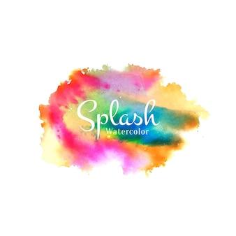 Conception colorée de splash aquarelle abstraite
