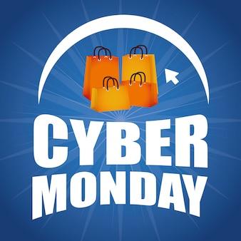Conception de commerce électronique cyber lundi