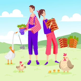 Conception de concept d'agriculture biologique