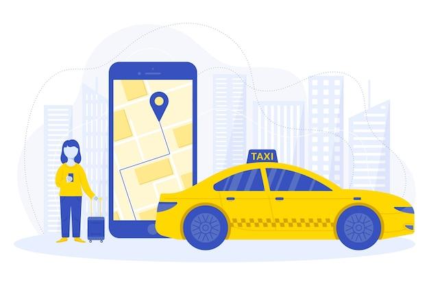 Conception de concept d'application de taxi