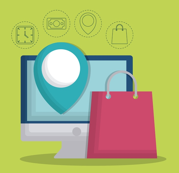 Conception de concept de commerce électronique