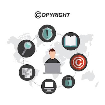 Conception de concept de copyright