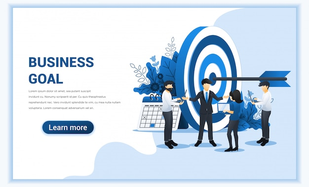 Conception de concept d'entreprise avec des personnes travaillant ensemble pour atteindre l'objectif commercial.