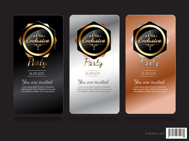 Conception de concept exclusif de carte d'invitation