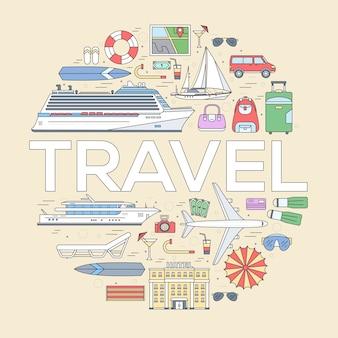 Conception de concept infographique de tourisme