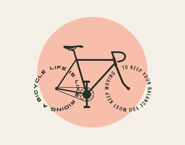Conception de concept de motivation de bicyclette