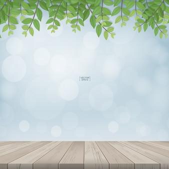 Conception de concept de plancher en bois