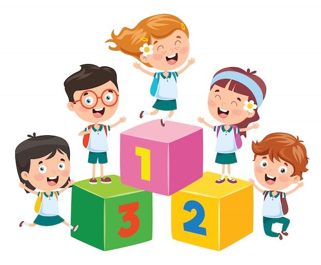 Conception de concept pour l'éducation des enfants
