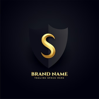 Conception de concept royal de logo élégant de lettre s
