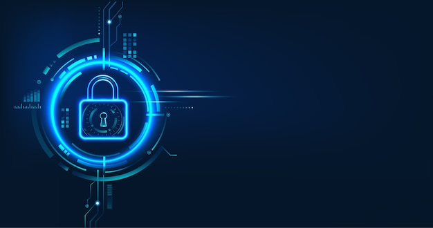 Conception de concept de sécurité des données pour la confidentialité personnelle, la protection des données et la cybersécurité.