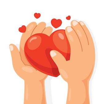 Conception de concept de soins de santé avec coeur