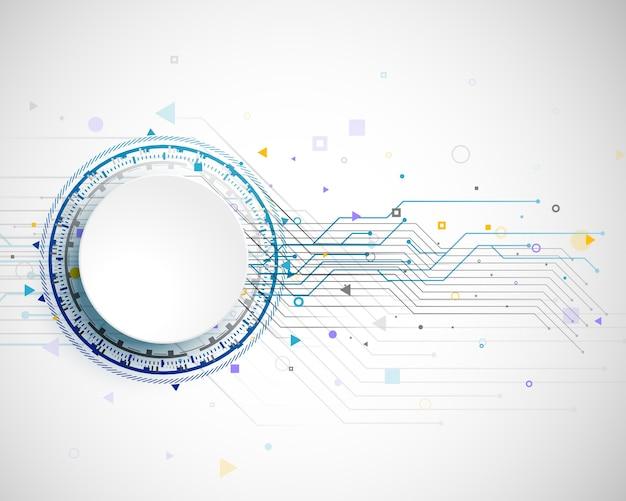 Conception de concept de technologie avec vecteur de modèle de structure de carte de circuit imprimé