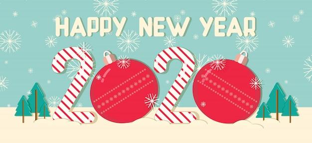 Conception de concept de vecteur de carte de voeux de nouvel an