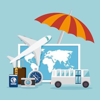Conception de concept de voyage