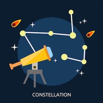 Conception constellations de fond