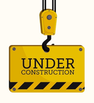 Conception de la construction, illustration vectorielle.