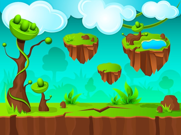 Conception de couche de jeu green land