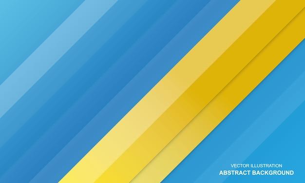 Conception de couleur bleu et jaune de fond moderne