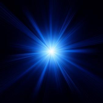 Conception de couleur bleue avec un éclat. fichier inclus