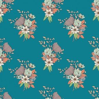 Conception de couleur des fleurs de motif
