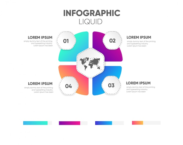 Conception en couleur infographique