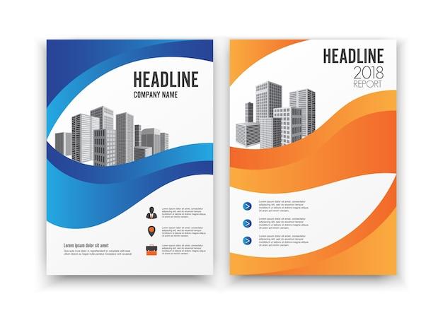 Conception couverture affiche catalogue livre dépliant dépliant rapport annuel modèle d'affaires.