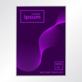 Conception de couverture de brochure d'affaires minimale