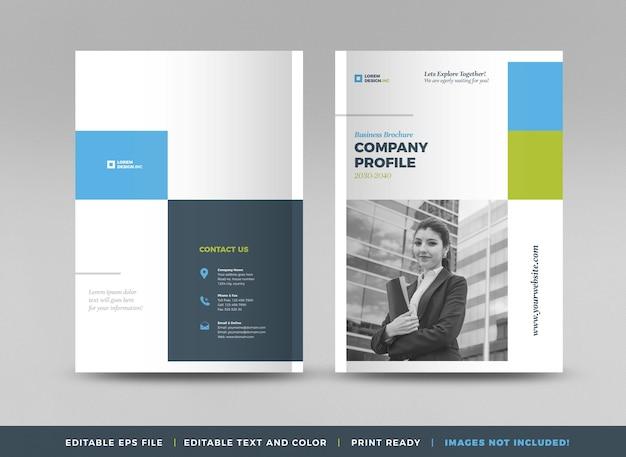 Conception de couverture de brochure commerciale ou rapport annuel et couverture de profil d'entreprise ou couverture de brochure et de catalogue