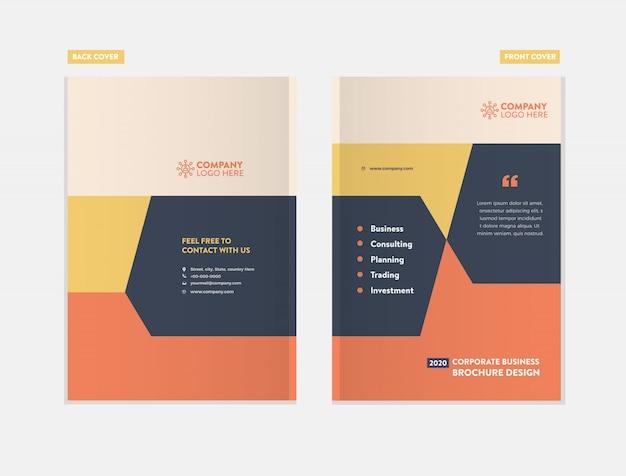 Conception de la couverture de la brochure commerciale
