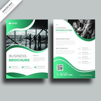 Conception de la couverture de la brochure corporative