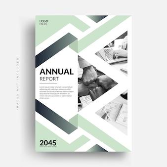 Conception de couverture de brochure de dépliant de rapport annuel d'entreprise d'entreprise moderne
