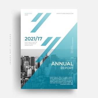 Conception De Couverture De Brochure De Dépliant De Rapport Annuel D'entreprise D'entreprise Moderne Vecteur Premium