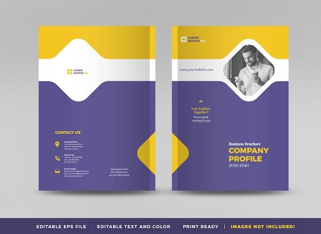 Conception de couverture de brochure d'entreprise ou rapport annuel et couverture de profil d'entreprise ou couverture de livret