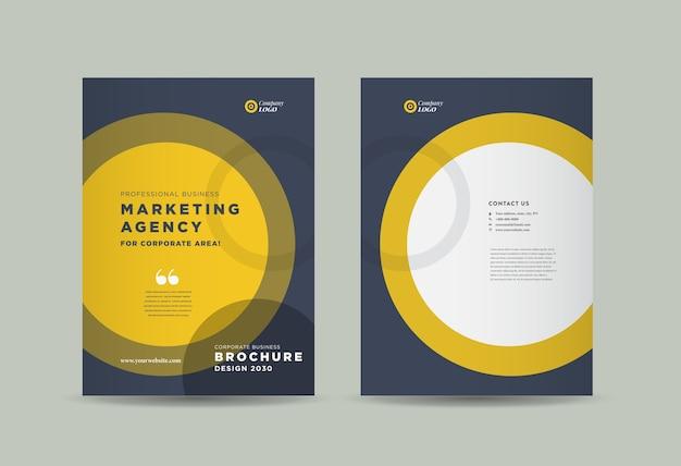 Conception de couverture de brochure d'entreprise