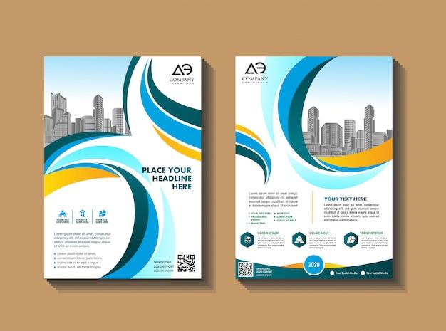 Conception de couverture de brochure de livre d'affaires