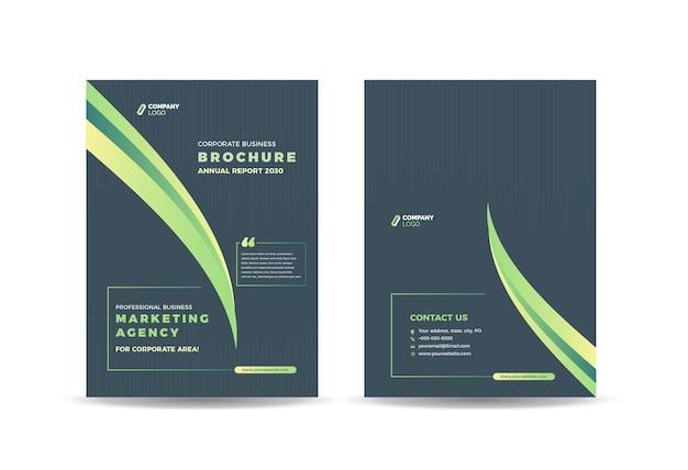 Conception De La Couverture De La Brochure Ou Rapport Annuel Et Couverture Du Profil De L'entreprise Ou Couverture Du Livret Et Du Catalogue Vecteur Premium