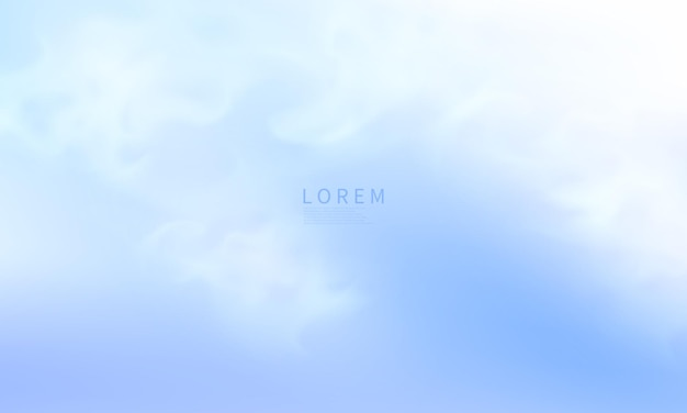 Conception de couverture de carte postale ou de brochure de formes bleues abstraites modernes avec une palette de couleurs pastel et un fond dégradé