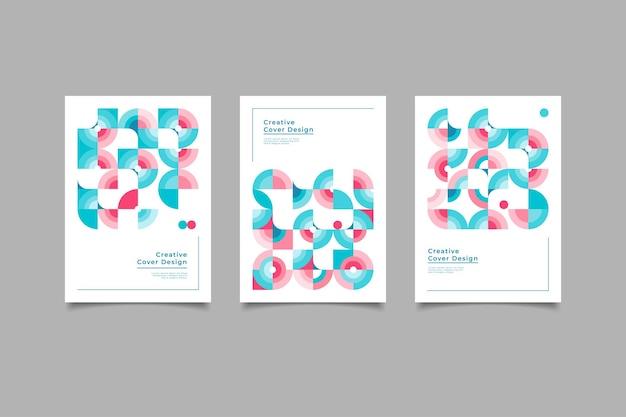 Conception de couverture créative rétro géométrique