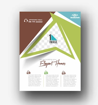 Conception de couverture de dépliant et d'affiche en illustration de modèle de format a4.